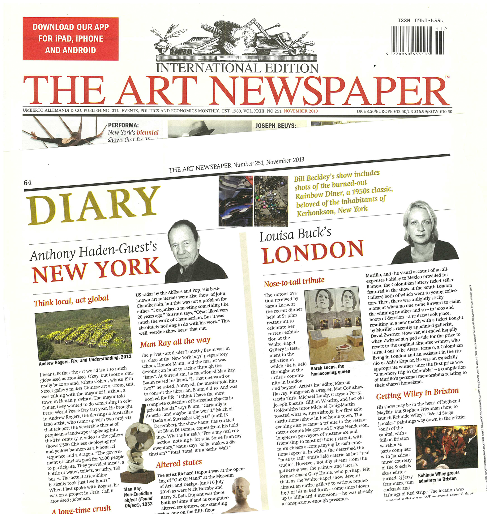 The art newspaper to publish daily supplements at art dubai 2017.